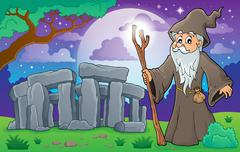 druid theme image - illustration. - stock illustration