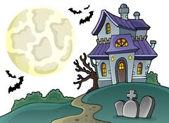 Haunted house theme image - illustration. Stock Illustration