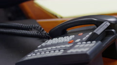 Female Answers Business Phone, Close Up - stock footage