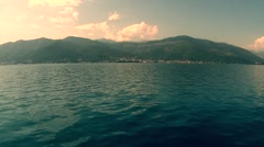 Sailing Kotor bay Stock Footage