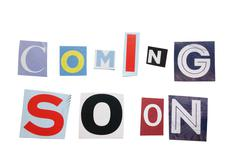 Stock Photo of coming soon letters