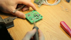 Stock Video Footage of Job soldering close-up