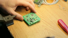 Stock Video Footage of Job soldering, close-up