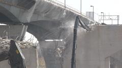 Bridge Construction - Demolition Stock Footage