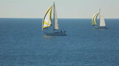 sailing race - stock footage