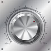 volume knob with min max levels - stock illustration