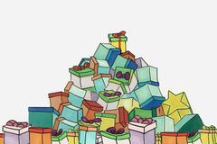 Christamas presents Stock Illustration