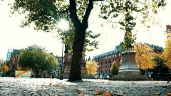 Manchester city council . autumn Stock Footage