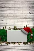 Stock Illustration of Composite image of fir branch christmas decoration garland