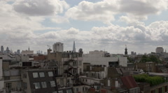 London timelapse from Soho rooftop facing East Stock Footage