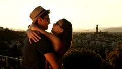 Young  Couple Vacation Art History Architecture Europe Romance Romance - stock footage