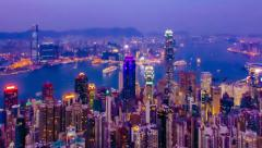Hong Kong time-lapse - PAN MOVEMENT (different image crops available) Stock Footage