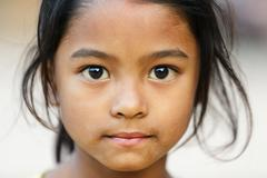 Nepalese little girl Stock Photos