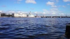 View at Kunstkamera museum, St. Petersburg, Russia Stock Footage