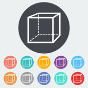 Geometric cube Stock Illustration
