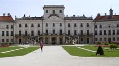 Eszterháza palace, fertoed, hungary, europe Stock Footage