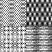 Stock Illustration of four seamless ornamental greed patterns