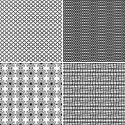 Four seamless ornamental greed patterns Stock Illustration
