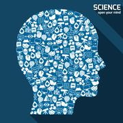 Science areas concept Stock Illustration