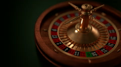 Roulette Wheel spinning from 3/4 view in a loop.  3D Animated - stock footage