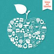 Stock Illustration of Science areas apple