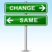 Change and same sign concept Stock Illustration