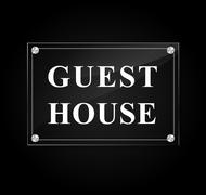 Guest house sign Stock Illustration