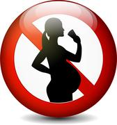 No alcohol for pregnant women sign Stock Illustration