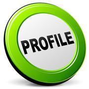 profile green icon - stock illustration