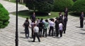 News Media Reporters Digniaties Politians Gather At Chungnyeolsa Shrine Busan 4K Footage