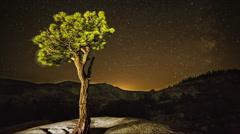 Olmsted Point, Yosemite National Park, Night Sky Time Lapse Stock Footage