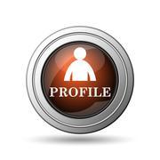 profile icon - stock illustration