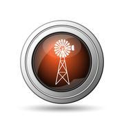 classic windmill icon - stock illustration