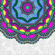 floral round pattern in ukrainian oriental ethnic style for your - stock illustration