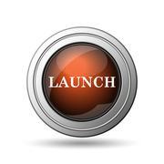 launch icon - stock illustration