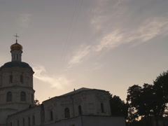 Ukraine, the ancient Orthodox Cathedral Stock Footage