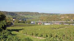 moselle valley, machtum, luxembourg - stock photo