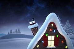 Composite image of santa claus boots Stock Illustration
