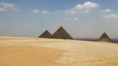 Pyramids on the background of Cairo. Approximation. Egipt. Stock Footage