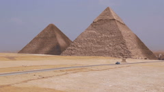 Great Pyramids on the background of Cairo. Egypt - stock footage