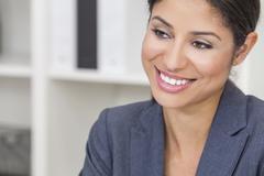 Beautiful latina hispanic woman businesswoman Stock Photos