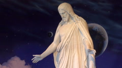Salt Lake City Mormon Temple Square Statue of Jesus Christ Stock Footage