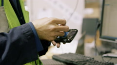 Electronic Recycling Plant - Cell Phone Testing 4 Stock Footage