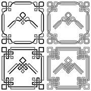 Celtic Knot Corners Patterns Stock Illustration