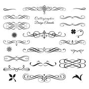 Collection of Arabesque Decorative Elements Stock Illustration