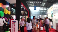 China (Shenzhen) international logistics and transportation Expo - stock footage
