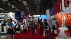 China (Shenzhen) international logistics and transportation Expo - stock footage