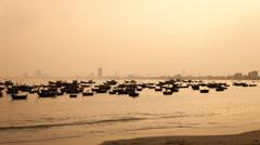 1080 - Da Nang, Vietnam - Evening timelapse on seaside Stock Footage