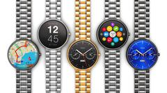 Collection of luxury smart watches - stock illustration