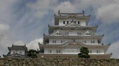 Himeji Castle in Japan Time Lapse Stock Footage